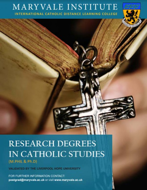 PhD & MPhil in Catholic Studies