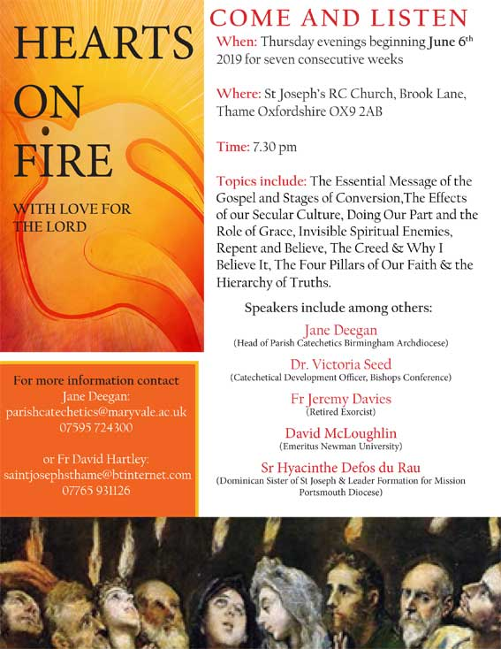 Hearts of Fire Evenings at St Joseph's RC Church (Thame)